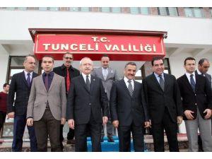 CHP Lideri Kılıçdaroğlu Tunceli Valiliğini Ziyaret Etti