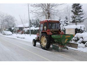 Sapanca Belediyesi Kar İle Mücadeleye Devam Ediyor
