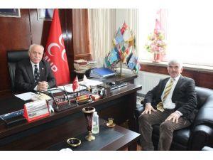 Nüvit Ateş'ten MHP'ye Ziyaret