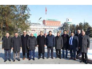 AK Parti İl Başkanı Özden'den Kayseri Şeker'e Ziyaret