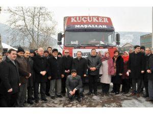 Akşehir AK Parti'den Bayır-bucak'a Yardım Tırı