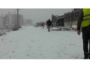 Çan'da Kar Yağışı Etkili Oldu