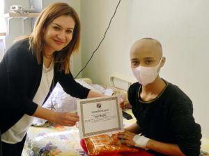 Onkoloji Hastanesi'nde karne heyecanı