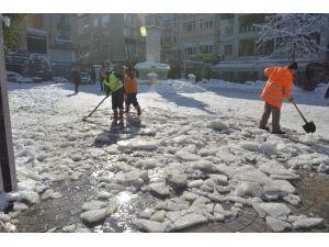 Fatsa'da Kar Temizleme Çalışmaları