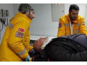 Buzdan Kayarak Hastanelik Oldu