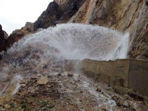 Hizan-kezer İçme Suyu İshale Hattında Arıza