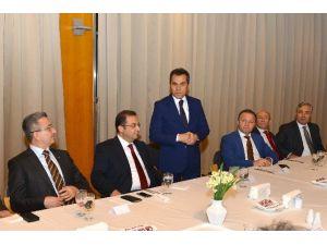 Antalya İl Milli Eğitim Müdürü Osman Nuri Gülay'a Veda Yemeği