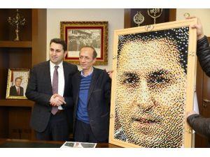 Cumhurbaşkanı Erdoğan'ın Pano Raptiye Portresi İle Dünya Rekoru Kırmaya Hazırlanıyor