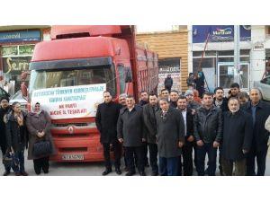 AK Parti'den Bayırbucak Türkmenlerine Yardım Tır'ı Yola Çıktı
