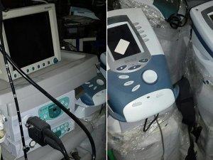 Teröristlerin hücre evinde özel hastaneye ait tıbbi cihazlar bulundu