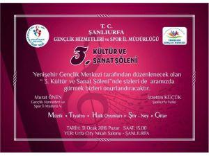 Yenişehir Gençlik Merkezinden Kültür Ve Sanat Programı Düzenlenecek