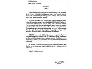 Başbakan Davutoğlu'ndan 'EXPO 2016 Antalya' Genelgesi