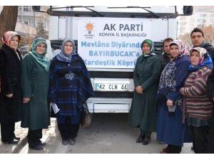 AK Parti Konya'dan Bayır-bucak Türkmenleri'ne Yardım Eli