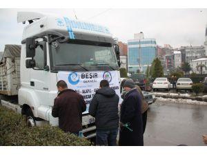 Bayırbucak Türkmenlerine gidecek yardım TIR'ları dualarla uğurlandı