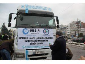 ERDEMİR, Belediye Ve Derneklerden Bayır Bucak Türkmenlerine Kömür Yardımı