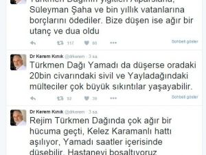 Türkmen Dağı'nda 20 Bin Sivil Tehdit Altında