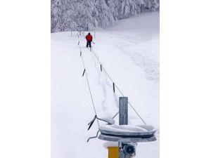 Düzce'nin İlk Kayak Pisti Kaynaşlı'ya Yapıldı