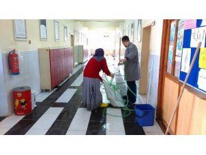 Hisarcık Aihl'de Temizlik Çalışması