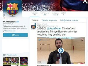 Barcelona'dan Türkçe Twıtter Adresi