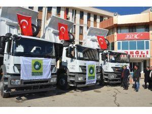 Ereğli Belediyesi'nin Araç Filosu Güçlendi