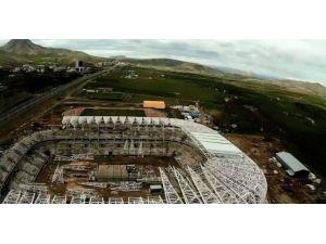 Malatya Arena'da İnşaat Çalışmaları Yeniden Başladı