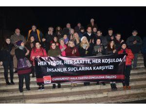 Zonguldak'ta 'kadına şiddet' protestosu