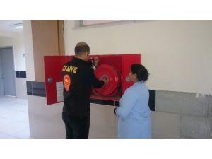 İtfaiye Okulların Yangın Güvenliğini Denetledi