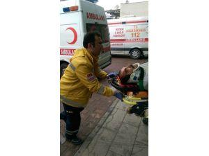 Çatı Onarımı Yapan İşçi 8 Metreden Aşağı Düştü