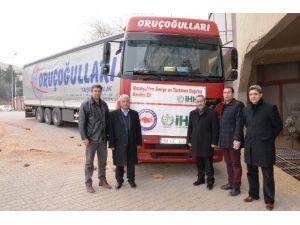 Türkmenlere Gıda Yardımı Yollandı