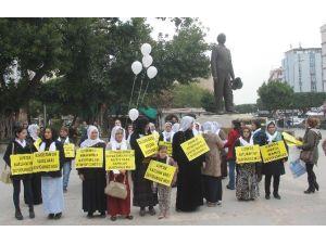 Adana'da HDP'li Kadınlardan Eylem