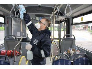 Toplu Taşıma Araçları Düzenli Olarak Dezenfekte Ediliyor