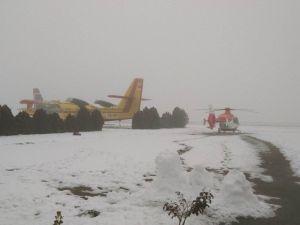 112 Ambulans Helikopteri Ankara'da Mahsur Kaldı