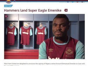 Emmanuel Emenıke, West Ham Unıted'da