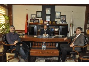 Başkan Toltar'a Ağrılı Meslektaşından Ziyaret