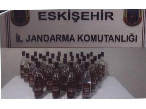 Eskişehir'de 30 Şişe Kaçak İçki Ele Geçirildi