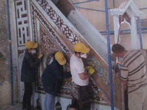 Sandıklı'daki Tarihi Havai Cami'deki Restorasyon Çalışmalarında Sona Yaklaşıldı