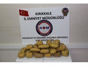 Kırıkkale'de 26 kilogram esrar ele geçirildi