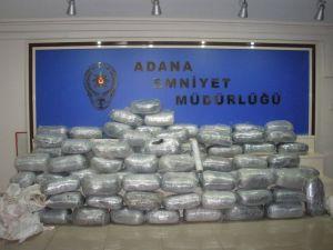 Adana'da 345 kilo esrar ele geçirildi