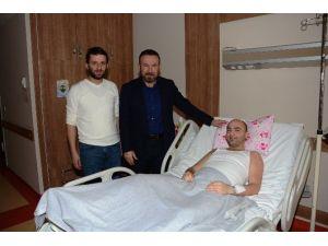 Doğan'dan MHP'li Sarıkaya'ya Geçmiş Olsun Ziyareti