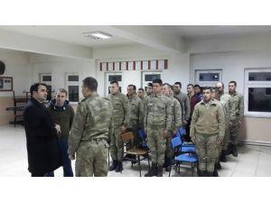 Kaymakam Bayır'dan Askere Moral Ziyareti