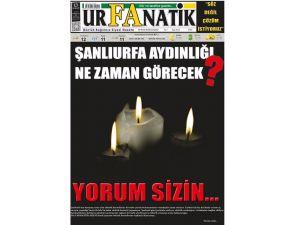 Elektrik kesintisini protesto eden yerel gazete siyah baskı ile çıktı