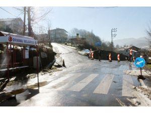 Zonguldak'ta 25 Köye Ulaşımı Sağlayan Yol Göçtü