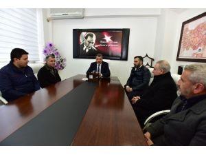 Derme Sokak Esnafları, Başkan Gürkan'ı Ziyaret Etti