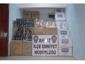 Ahlat'ta Kaçak Sigara Operasyonu