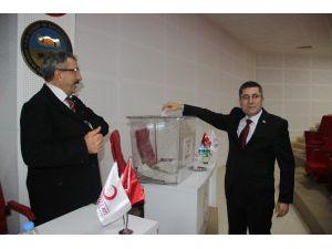 Türk Kızılay'ı Çan Şube Başkanı Mehmet Sönmez Güven Tazeledi