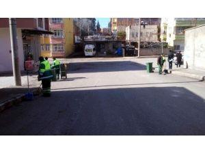 Belediye Ekiplerinin Hummalı Temizlik Çalışması