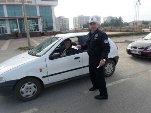 Sürücülere Çipli Ehliyet İle İlgili Broşür Dağıtıldı