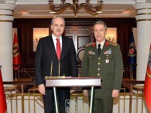 Kurtulmuş, Genelkurmay Başkanı Orgeneral Akar'ı ziyaret etti