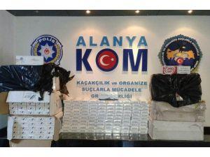 Alanya'da 4 Bin Paket Kaçak Sigara Ele Geçirildi