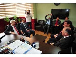 Milletvekili Hüseyin Şahin'den Çağlayan'a Teşekkür Ziyareti